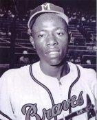 Hank Aaron LIMITED STOCK Milwaukee Braves 8X10 Photo