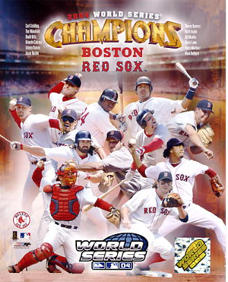 Curt Schilling,Tim Wakefield, David Ortiz, Johnny Damon 2004 WS Champions LIMITED STOCK Red Sox 8X10 Photo