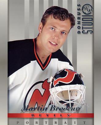 Martin Brodeur LIMITED STOCK DonRuss Studio 1997 New Jersey Devils 8x10 Photo