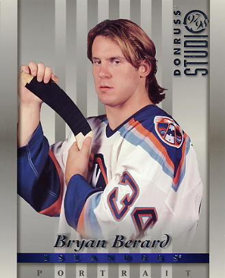 Bryan Berard LIMITED STOCK DonRuss Studio 1997 New York Islanders 8x10 Photo