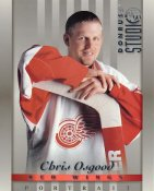 Chris Osgood LIMITED STOCK DonRuss Studio 1997 Detroit Red Wings 8x10 Photo