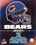 Chicago Bears Team Helmet LIMITED STOCK 2001 Central Division Champs 8X10 Photo