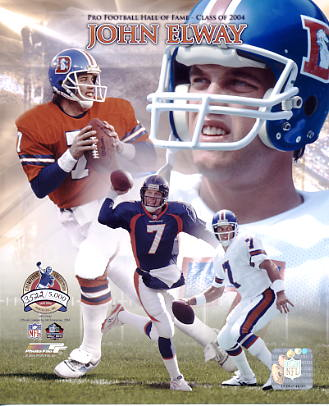 John Elway Limited Edition 2004 Pro Football Hall Of Fame 8X10 Photo
