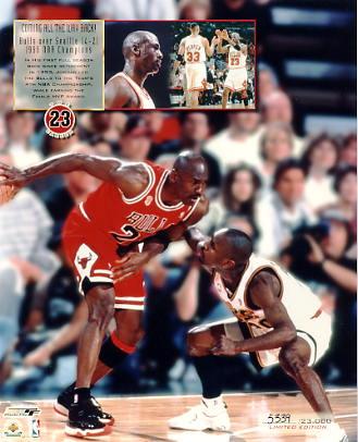 Michael Jordan Limited Edition 1996 NBA Champions 8X10 Photo