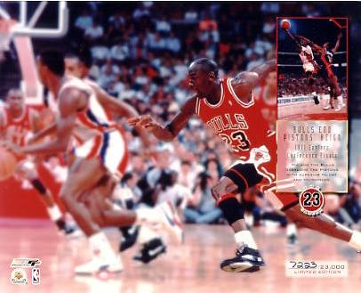 Michael Jordan Limited Edition 1991 Eastern Conference Finals 8X10 Photo