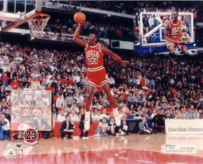Michael Jordan Limited Edition 1988 Slam Dunk 8X10 Photo