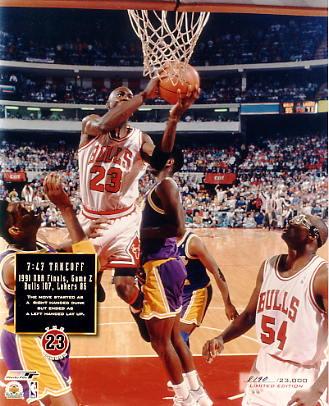 Michael Jordan Limited Edition 1991 Game 2 NBA Finals 8X10 Photo
