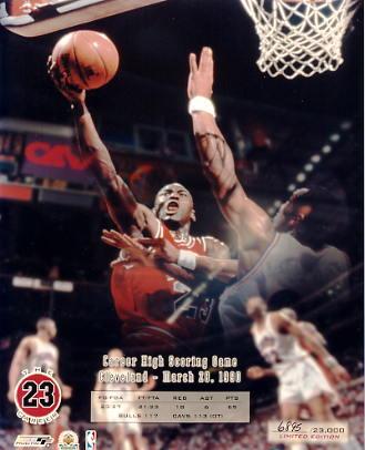 Michael Jordan Limited Edition March 28, 1990 Career High Scoring Game 8X10 Photo