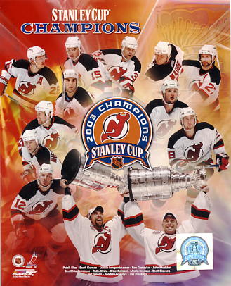 Devils 2003 New Jersey Team Stanley Cup Champions LIMITED EDITION 8x10 Photo