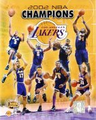 Lakers 2002 Los Angeles Team Champions LIMITED EDITION 8X10 Photo