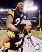Ryan Clark & Troy Polamalu 2010 AFC Champs LIMITED STOCK Pittsburgh Steelers 8x10 Photo