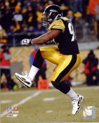 James Harrison 2010 Playoffs LIMITED STOCK Pittsburgh Steelers 8x10 Photo