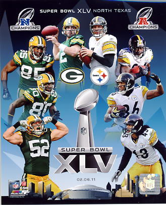 Steelers 2011 vs Packers Super Bowl 45 Cowboys Stadium 8x10 Photo