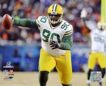 BJ Raji 2010 NFC Championship Game Touch Down LIMITED STOCK Green Bay Packers 8X10 Photo