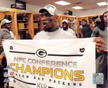 Charles Woodson 2010 NFC Championship Win LIMITED STOCK Green Bay Packers 8X10 Photo