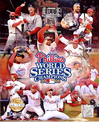 Phillies 2008 World Series LTD Composite 8X10 Photo