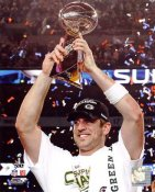 Aaron Rodgers W/ Lombardi Trophy Super Bowl 45 Green Bay Packers 8X10 Photo