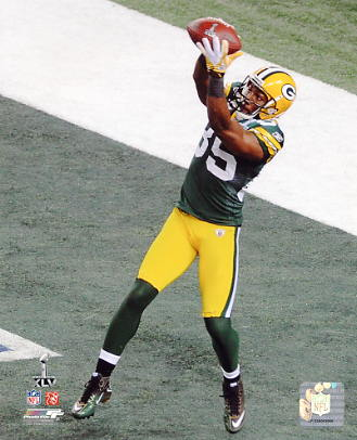 Greg Jennings Super Bowl 45 Green Bay Packers 8X10 Photo