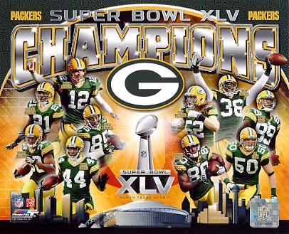 Packers 2011 Team Super Bowl 45 Composite Green Bay SATIN 8X10 Photo