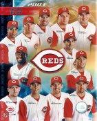 Barry Larkin, Ken Griffey Jr, Adam Dunn, Sean Casey 2003 Cincinnati Reds LIMITED STOCK 8x10 Photo