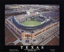 A1 The Ballpark in Arlington Aerial Texas Rangers 1st Night Game 8X10 Photo