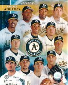 Barry Zito, Mark Mulder,David Justice, Jeremy Giambi LIMITED STOCK 2003 Oakland Athletics 8X10 Photo