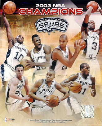 David Robinson, Tim Duncan, Tony Parker LIMITED STOCK 2003 NBA Champions San Antonio Spurs 8X10 Photo