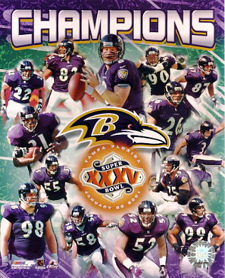 Ravens 2001 Baltimore Team LIMITED STOCK 8x10 Photo