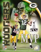 Aaron Rodgers Super Bowl 45 MVP Green Bay Packers SATIN 8X10 Photo