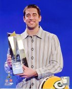 Aaron Rodgers With MVP Trophy LIMITED STOCK Green Bay Packers 8X10 Photo