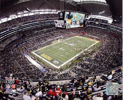 N2 Cowboys Stadium SuperBowl 45 Steelers vs Packers 8X10 Photo