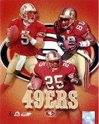 Jerry Rice, Charlie Garner & Jeff Garcia LIMITED STOCK 49ers 8X10 Photo
