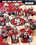 Jeff Garcia, Terrell Owens, Kevan Barlow, JJ Stokes LIMITED STOCK 2002 San Francisco 49ers 8X10 Photo