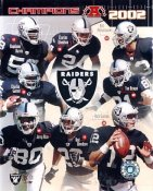 Tim Brown, Jerry Rice, Charlie Garner, Rod Woodson, Rich Gannon LIMITED STOCK 2002 Oakland Raiders 8X10 Photo