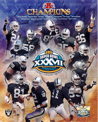 Raiders 2003 Oakland LIMITED STOCK Team 8X10 Photo