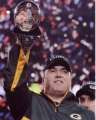 Mike McCarthy w/ Lombardi Trophy Super Bowl 45 Green Bay Packers 8X10 Photo