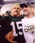 Aaron Rodgers & Chuck Liddel Super Bowl 45 Green Bay Packers 8X10 Photo