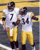 Rashard Mendenhall & Ben Roethlisberger Super Bowl 45 Pittsburgh Steelers 8x10 Photo