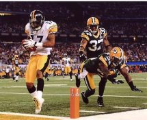 Mike Wallace TD Super Bowl 45 Pittsburgh Steelers 8x10 Photo
