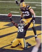 Nick Collins & Clay Matthews Super Bowl 45 Green Bay Packers 8X10 Photo