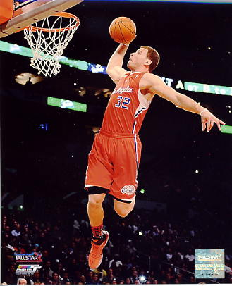 Blake Griffin Slam Dunk Contest Los Angeles Clippers 8x10 Photo LIMITED STOCK