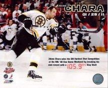 Zdeno Chara wins XM Hardest Shot Competition Boston Bruins 8x10 Photo LIMITED STOCK