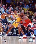 Michael Jordan & Kobe Bryant Bulls / Lakers SATIN 8X10 Photo LIMITED STOCK