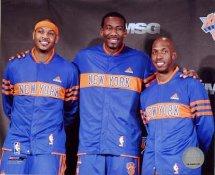 Chauncey Billups ,Carmelo Anthony & Amare Stoudemire New York Knicks 8X10 Photo LIMITED STOCK