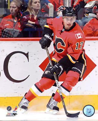 Rene Bourque Calgary Flames 8x10 Photo