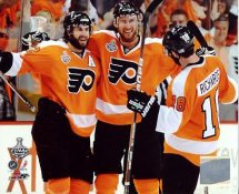 Jeff Carter, Mike Richards & Simon Gagne Philadelphia Flyers 8x10 Photo