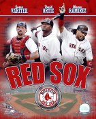 David Ortiz, Manny Ramirez & Jason Varitek LIMITED STOCK Boston Red Sox 8x10 Photo