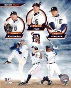 Justin Verlander, Brandon Inge & Miguel Cabrera Detriot Tigers 8X10 Photo