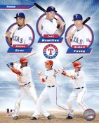 Nelson Cruz, Josh Hamilton & Michael Young Texas Rangers 8X10 Photo LIMITED STOCK