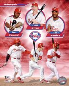 Chase Utley, Jimmy Rollins & Ryan Howard LIMITED STOCK Philadelphia Phillies 8X10 Photo
